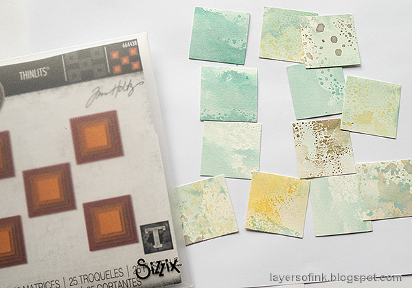 Layers of ink - Distress Ink Blocks Card Tutorial by Anna-Karin Evaldsson. Die cut with Stacked Squares.