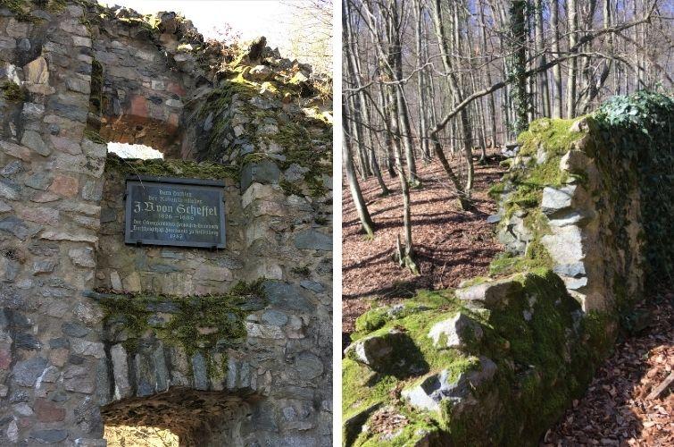 Ruine Rodenstein alte Burgmauern