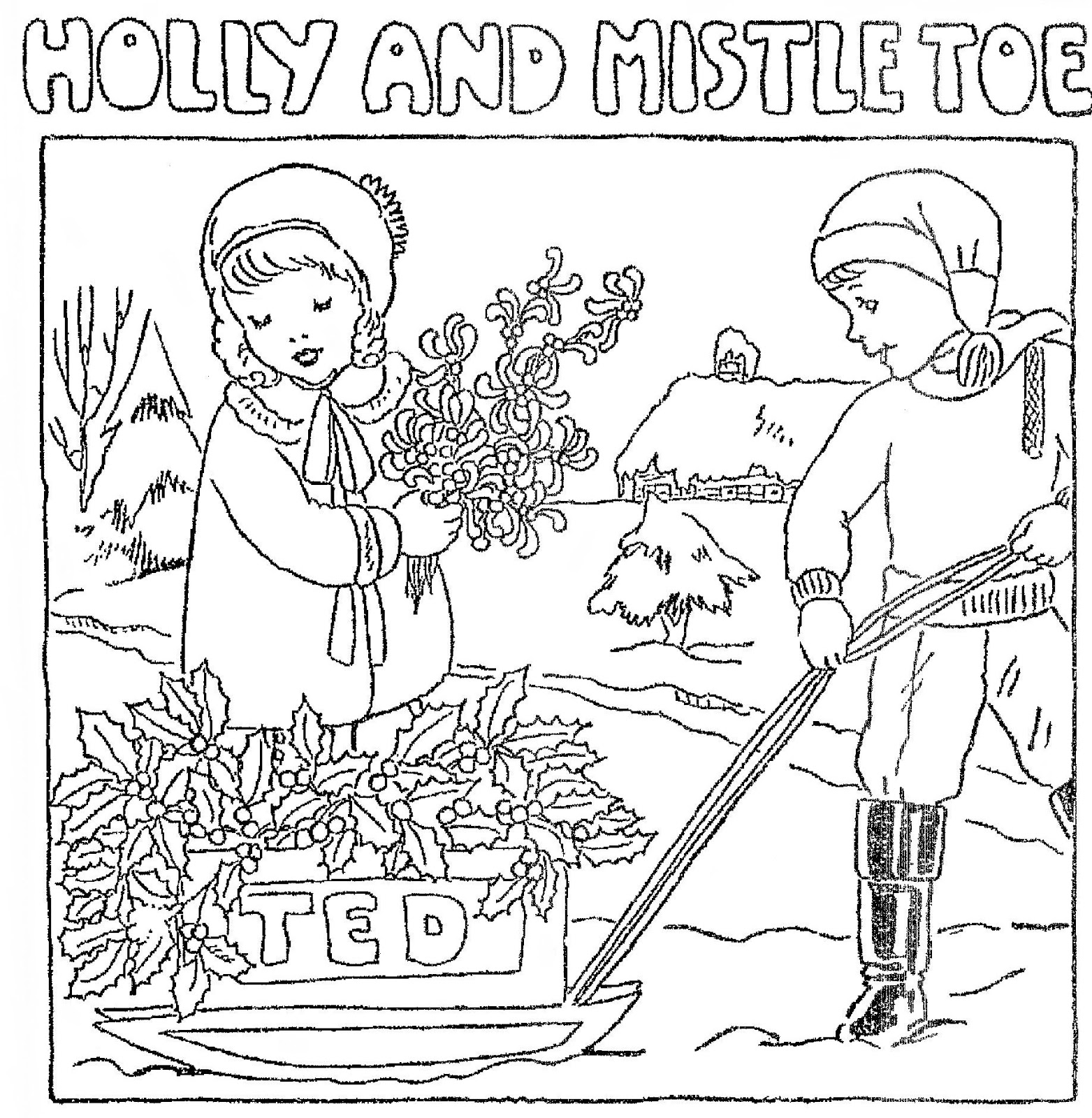 Mostly Paper Dolls Too!: HOLLY and MISTLETOE