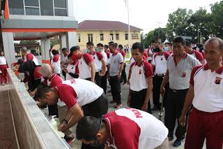 Ditanggal Merahpun Polres Labuhanbatu Tetap Bersinergi Melakukan Pencegahan Covid-19