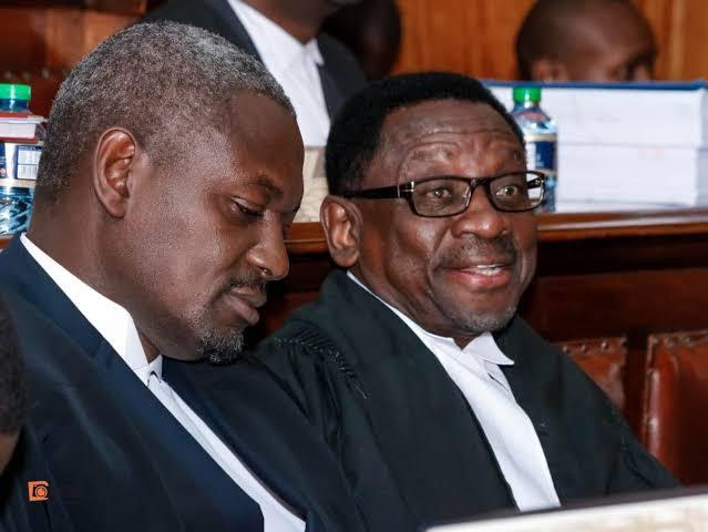 Senator SC James Orengo and MP Otiende Omolo photo