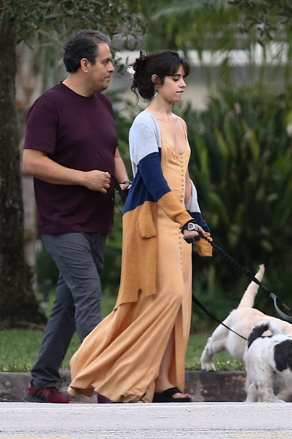 Camila Mendes – With family in Miami