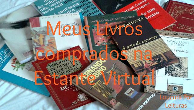 Meus livros comprados na Estante Virtual