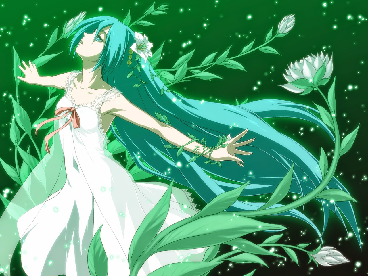 Beautiful Cartoon Girl Hd Wallpaper Hatsune Miku Desktop Backgrounds Beautiful Wallpapers