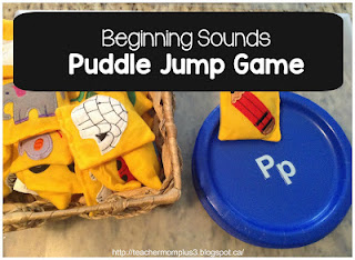 Practical Mondays Link Up: Puddle Jump Beginning Sound Game