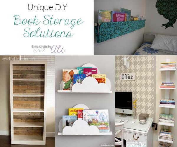 diy unique book storage ideas bookshelves & Unique DIY Book Storage Solutions - Home Crafts by Ali