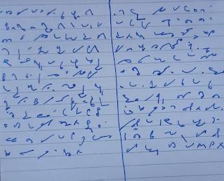 Pitman shorthand strokes