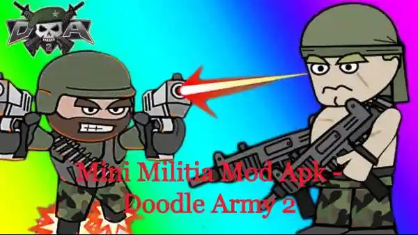 Mini Militia Mod Apk - Doodle Army 2 - Ultra God Mod + Unlimited Health
