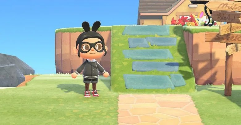 How to build ramps to get to high ground in Animal Crossing: New Horizons