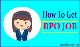 How To Get  A Job In BPO