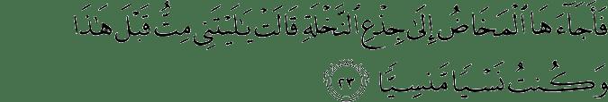 Surat Maryam Ayat 23