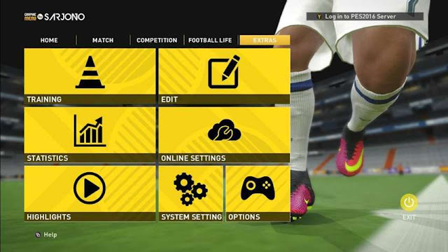 FIFA 17 Graphic Menu for PES 2016