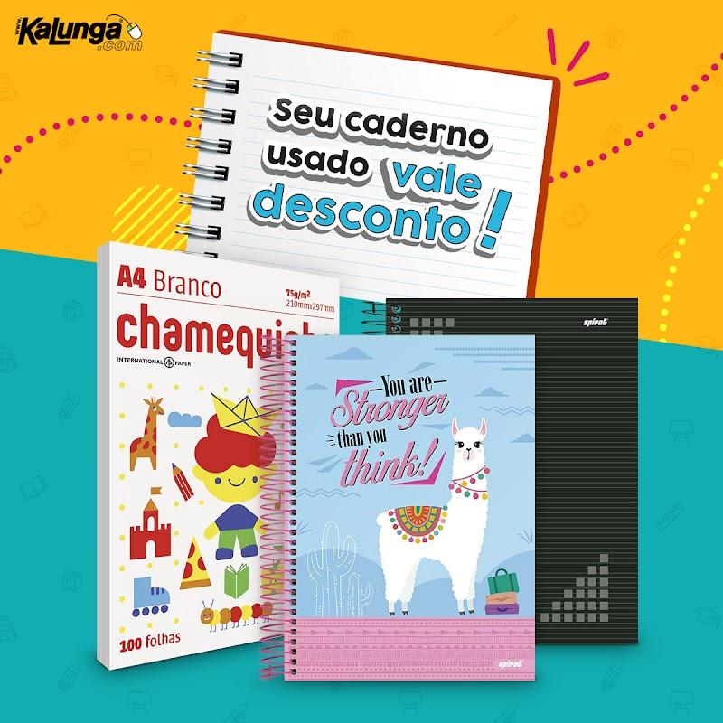 Kalunga dá descontos para quem doar folhas de cadernos usados