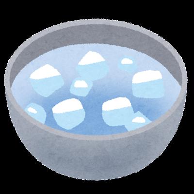 料理の「冷やす」のイラスト