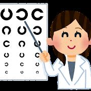 女性の眼科医のイラスト