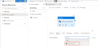 Excel source dataset in ADF