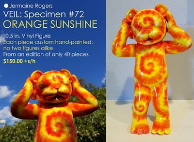 Veil Specimen #72 Orange Sunshine Edition Vinyl Figure by Jermaine Rogers