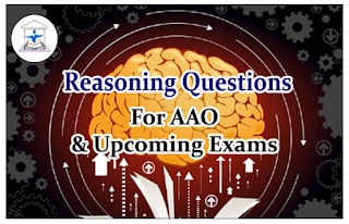 Reasoning Questions (Sitting Arrangements) for AAO and upcoming Exams 2016 Set-56: