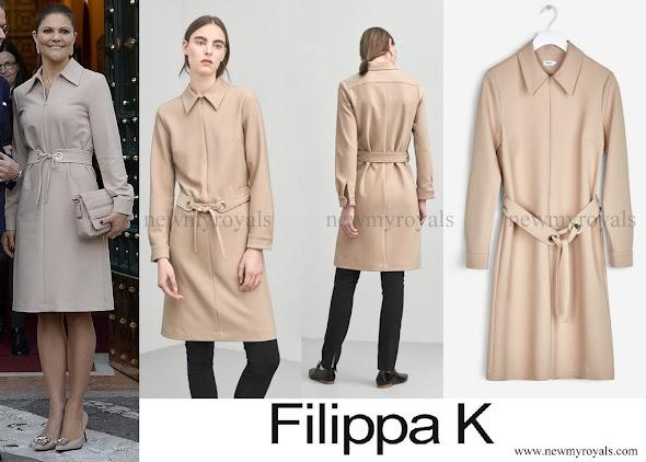 Crown Princess Victoria wore Filippa K Almondine Shirt Zip Dress