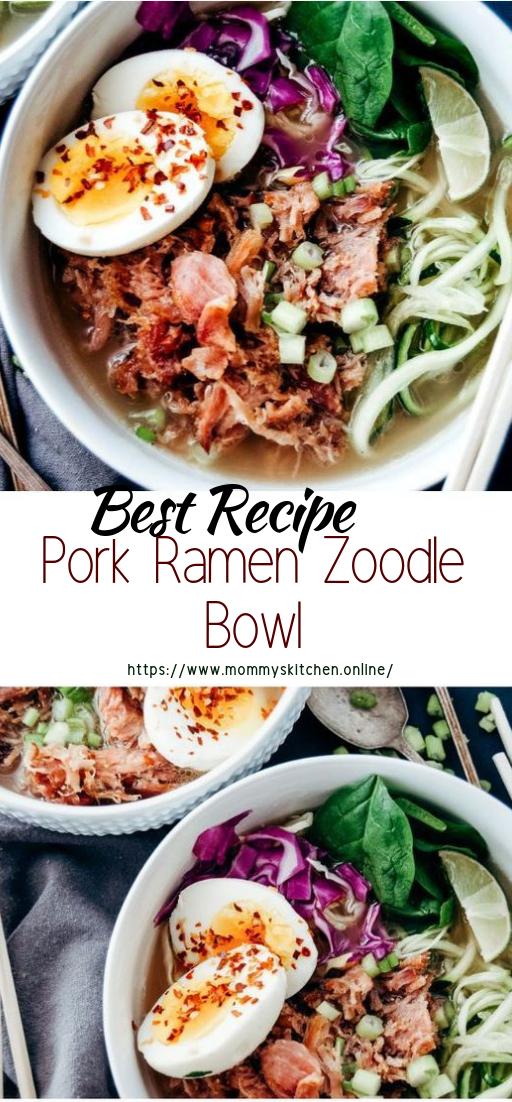 Pork Ramen Zoodle Bowl #dinnerrecipe #food #amazingrecipe