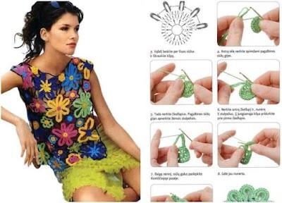 Revista apliques gráficos de crochet