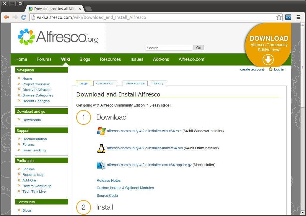alfresco community 4.2