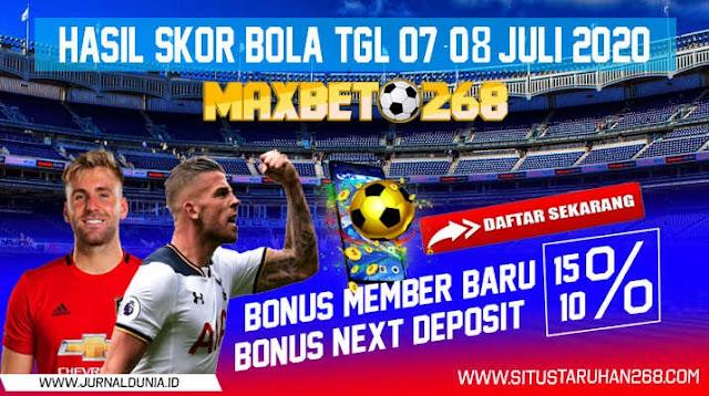 Hasil Pertandingan Sepakbola Tanggal 07 - 08 Juli 2020