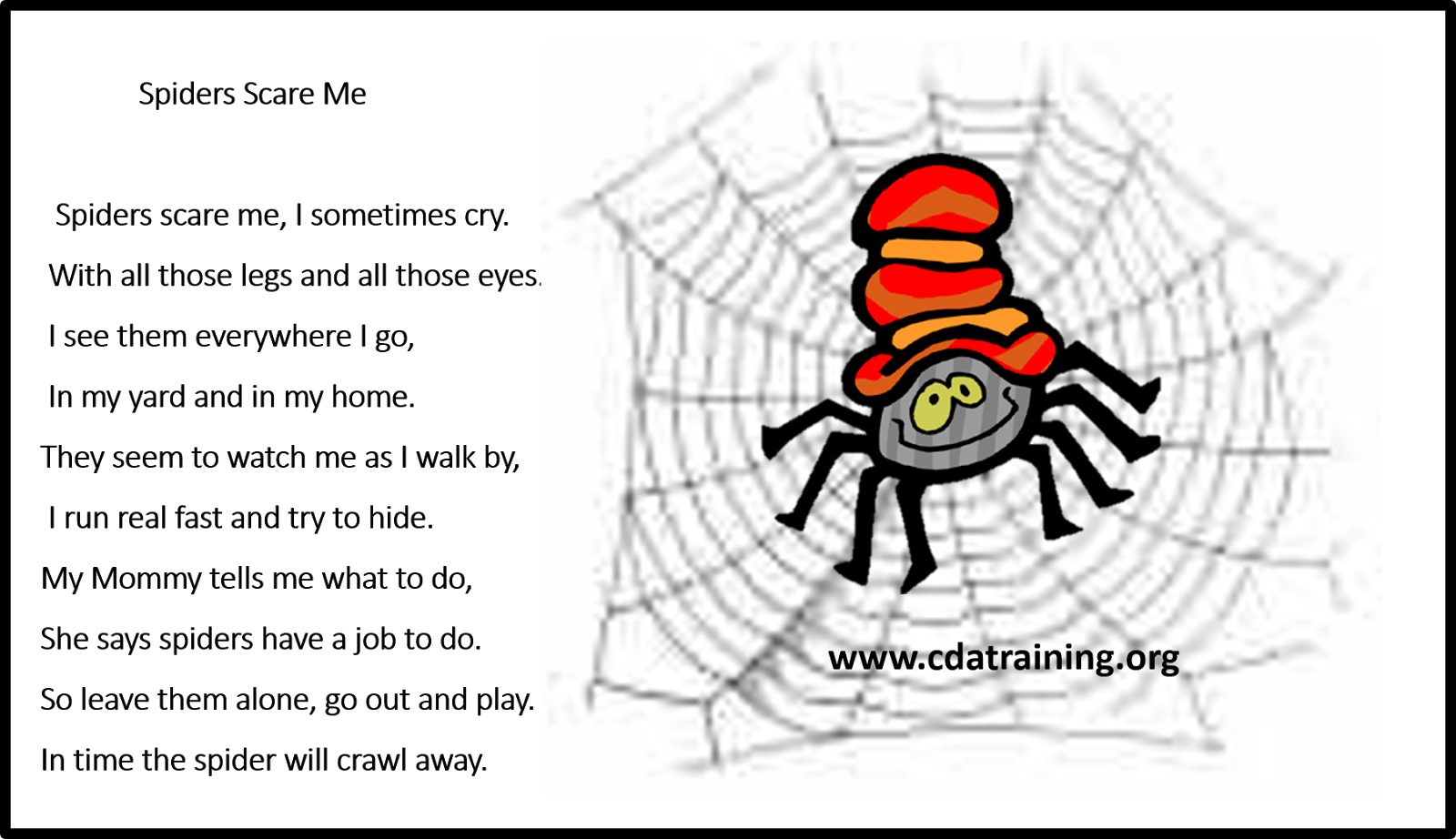 Child Care Basics Resource Blog Spider Clips