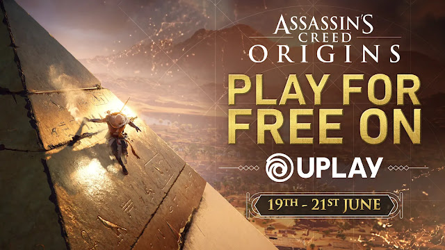 PLAY ASSASSIN'S CREED ORIGINS FOR FREE THIS WEEKEND ON UPLAY