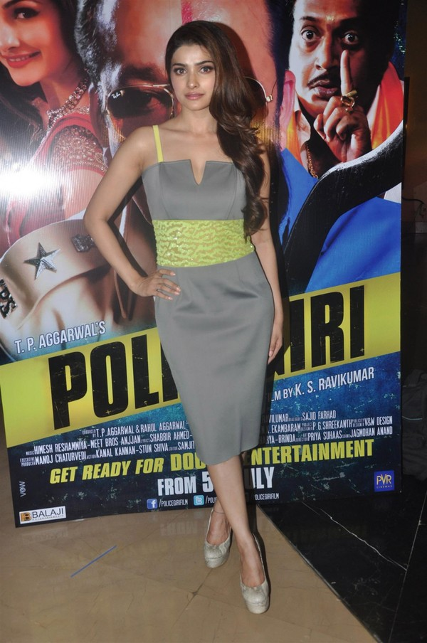 gorgeous sexy hot Prachi desai at first look launch of police giri photos