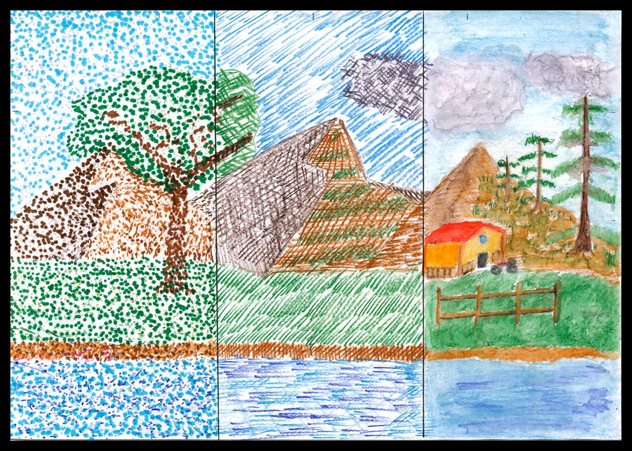 Dibujo De Lineas Paisaje: Paisajes Con Puntos Y Lineas