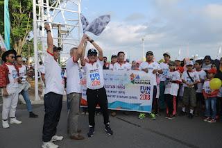 Ribuan Nasabah Ikuti Jalan Sehat HUT BPR dan BPRS
