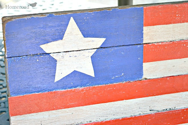 Rustic American Flag Using Pallet Wood