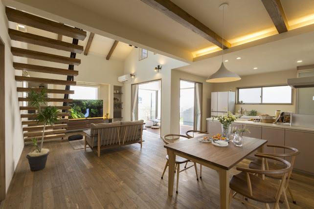 Nội thất của nhà cấp 4 mái thái có gác lửng của người Nhật Bản đẹp mê li