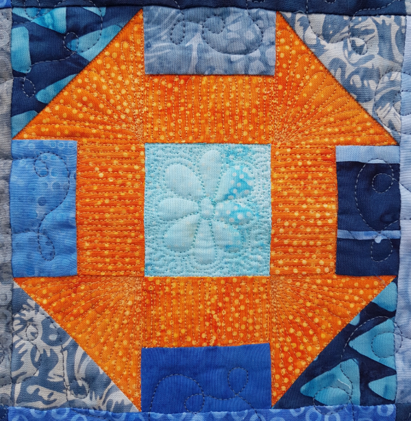 Free motion quilting churn dash block | DevotedQuilter.com