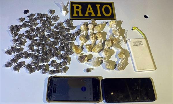 Quatro pessoas presas em Crato com cocaína, crack e maconha.
