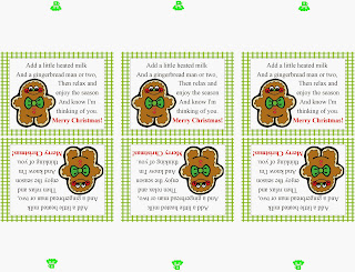 Gingerbread Man Poem Bag Topper Printable by Kims Kandy Kreations