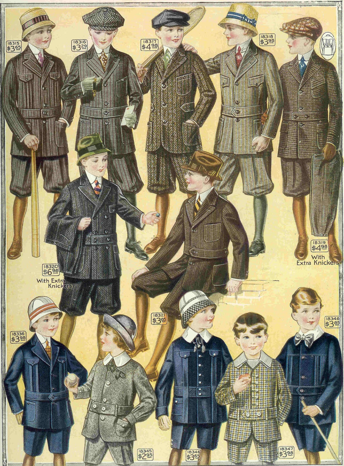 Antique Images: Free Men's Fashion Illustration: 1915 Boy