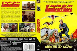 Carátula dvd: El asalto de los hombres pájaro (1976)(Sky Riders)