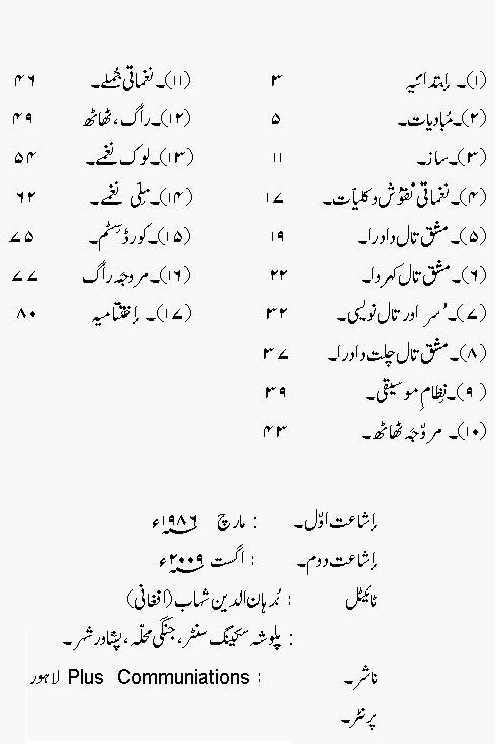 Singing Lessons First Music Book in Urdu Free Download