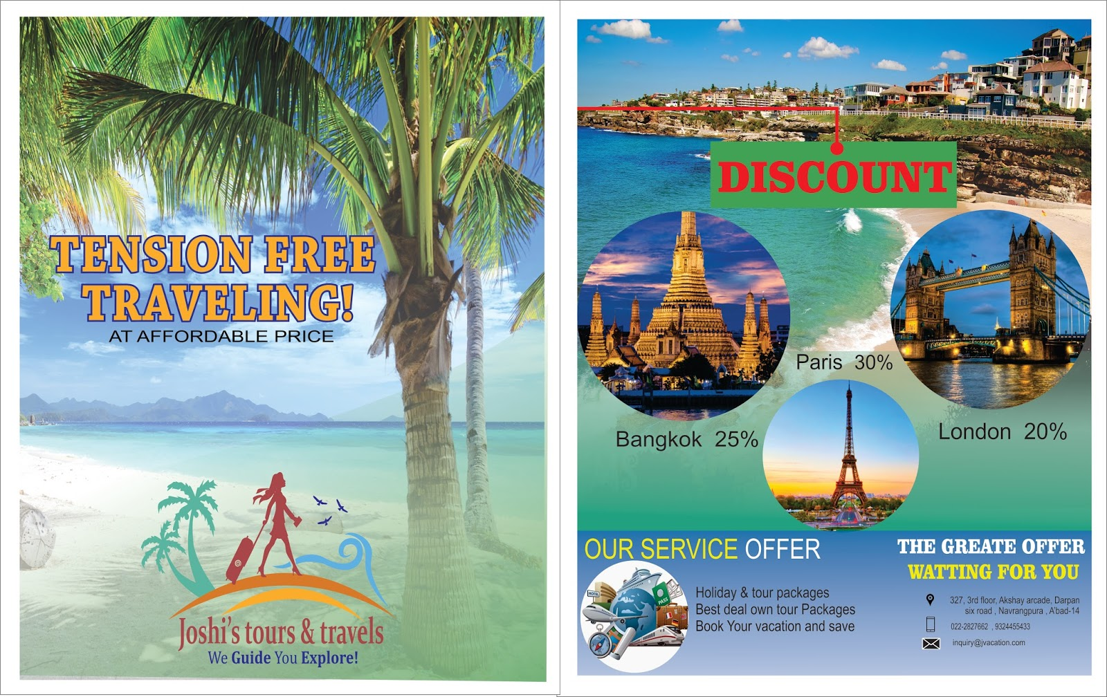 Flyer Design In Coreldraw For Project Of Travelling Company