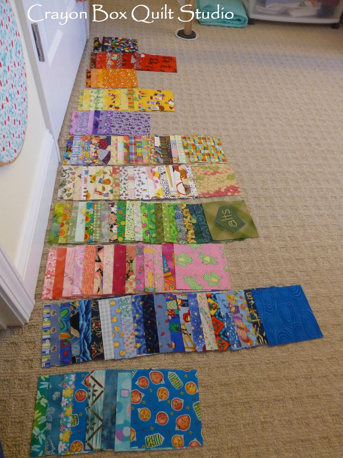 Crayon Box Quilt Studio: Alex's 100 Good Wishes Quilt - A finish