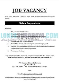 Job Vacancy di PT. Makmur Dinamika Fortuna Surabaya Mei 2019 Terbaru