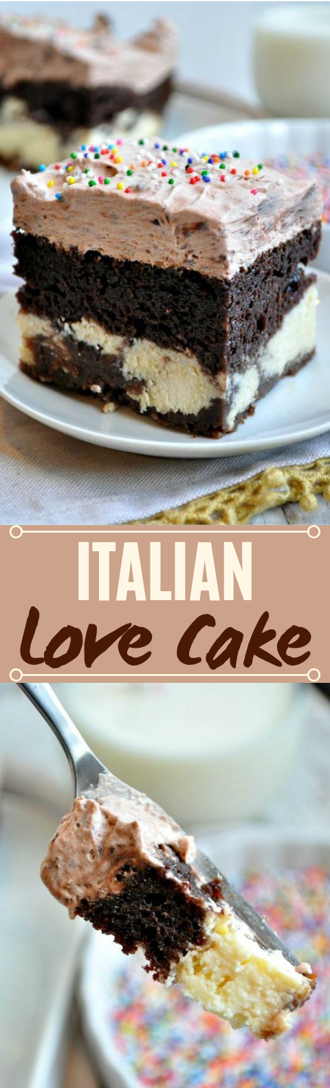 Easy Chocolate Italian Love Cake #desserts #recipes