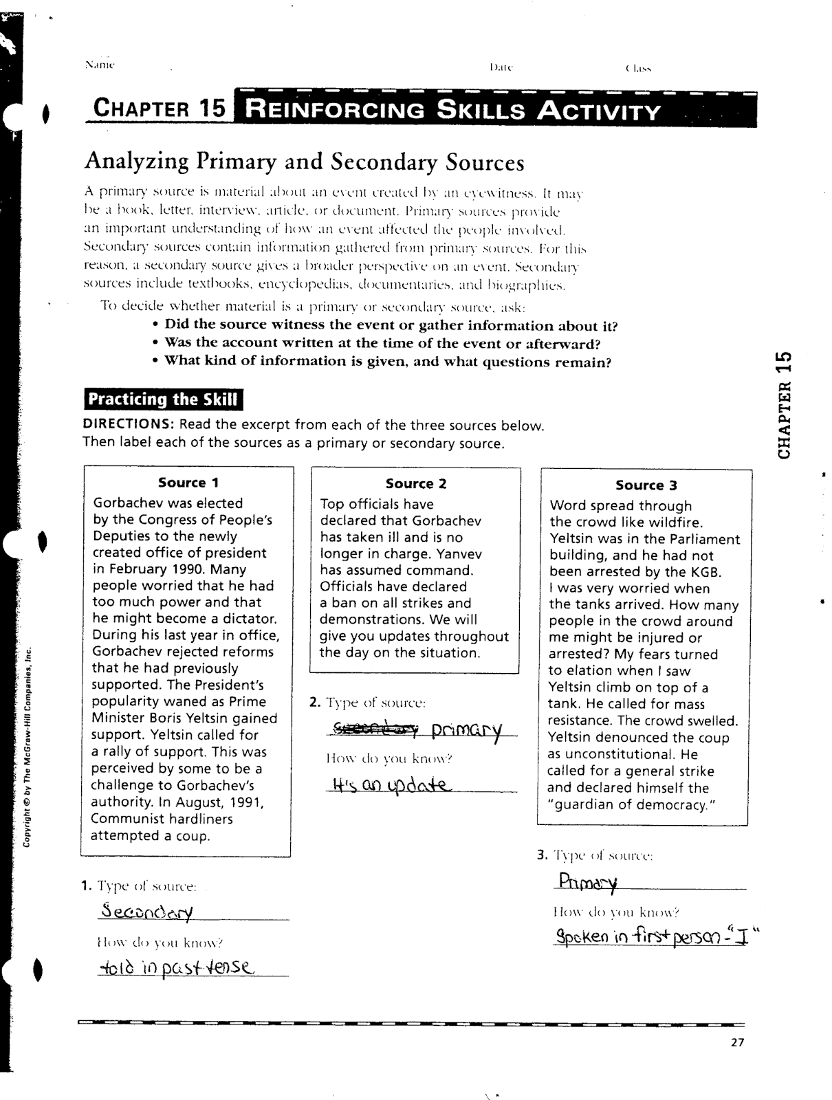 Mr E S World Geography Page Chapter 15