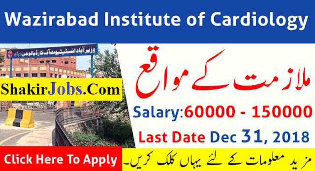 Wazirabad Institute of Cardiology Jobs 2018-2019 Shakirjobs wazirabad institute of cardiology jobs march 2018 wazirabad institute of cardiology jobs 2018 application form wazirabad institute of cardiology interview wazirabad cardiology hospital jobs 2018 wazirabad cardiology jobs 2018 wazirabad institute of cardiology map jobs in wazirabad 2018 wazirabad institute of cardiology nts result