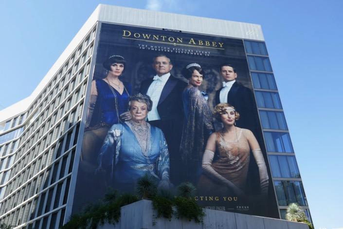 Giant Downton Abbey film billboard