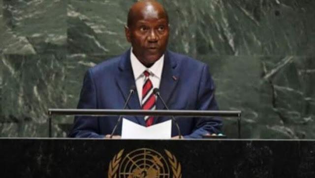 Ivory Coast's Vice-President Daniel Kablan Duncan