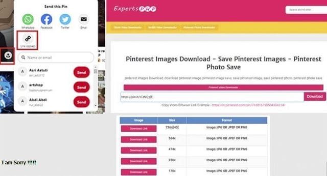 Cara Download Gambar Di Pinterest Tanpa Aplikasi