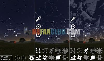 Stellarium Mobile 0 1 6 for Nokia N8 & Belle smartphones